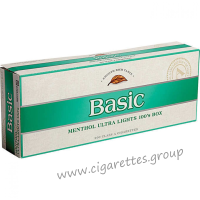 Basic Menthol Ultra Lights 100's Silver [Pack Box]
