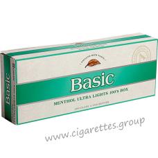 Basic Menthol Ultra Lights 100's Silver [Pack Box]