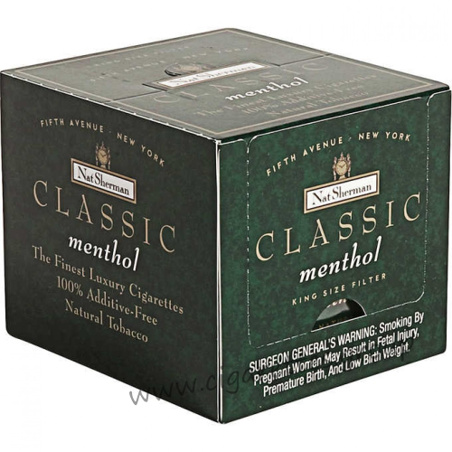 Nat Sherman Classic Menthol Kings Cube
