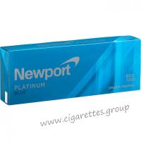 Newport Menthol Platinum Blue 100's [Box]