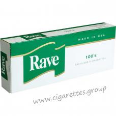 Rave Menthol Dark Green 100's [Box]