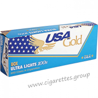 USA Gold Blue Ultra Lights 100's [Box]