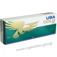 USA Gold Menthol Dark Green 100's [Box]