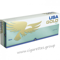 USA Gold Menthol Green 100's [Box]